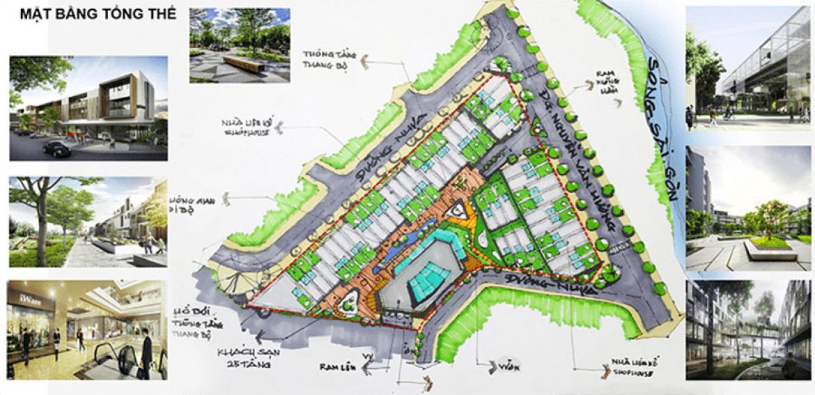 Perspective of the master plan of King Thao Dien 1170x0 c center